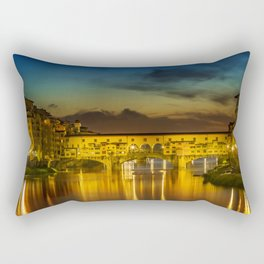 FLORENCE Ponte Vecchio at Sunset Rectangular Pillow