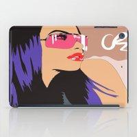 aaliyah iPad Cases featuring Aaliyah w/Mocha sky  by NelxArt