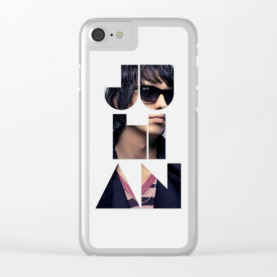 Julian Casablancas The Strokes Font Sunglasses Clear iPhone Case