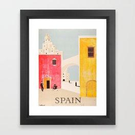 Spain Vintage Travel Poster Mid Century Minimalist Art Framed Art Print