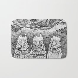Icelandic foxes Bath Mat