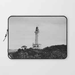 Lighthouse - black and white Laptop Sleeve