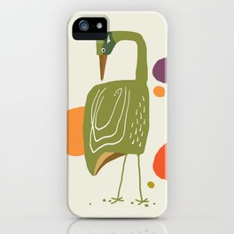 Quirky Brolga iPhone Case