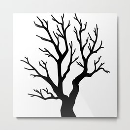 Dead Tree - Inktober Series Metal Print
