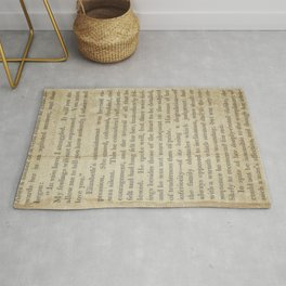 Pride and Prejudice  Vintage Mr. Darcy Proposal by Jane Austen   Rug