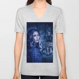 Charumati - the Purple-Eyed Werewolf Unisex V-Neck