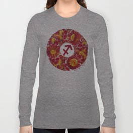 Sagittarius in Petrykivka Style (with artist's signature/date) Long Sleeve T-shirt