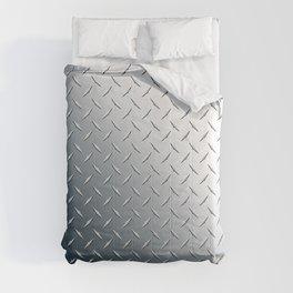 Diamond Plate Metal Pattern Comforters
