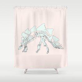 Pastel Stegasaurus Shower Curtain