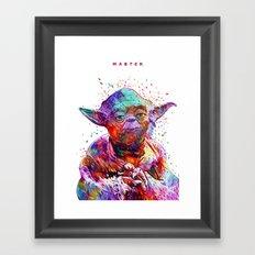 Master White Framed Art Print