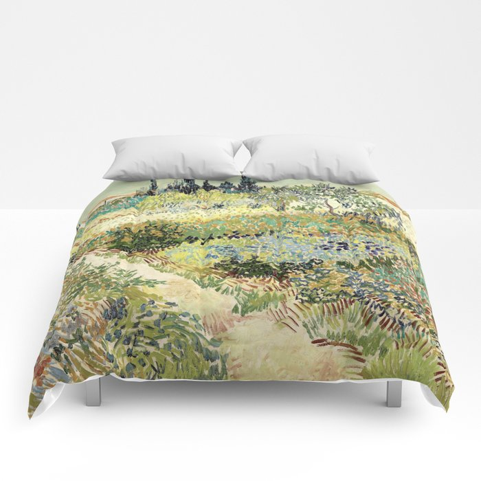 Vincent Van Gogh : Garden At Arles Comforters