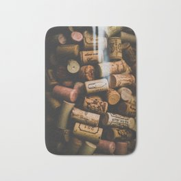 A collection of Wine Corks Photo Bath Mat