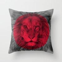eric fan Throw Pillows featuring Wild 5 by Eric Fan & Garima Dhawan by Garima Dhawan