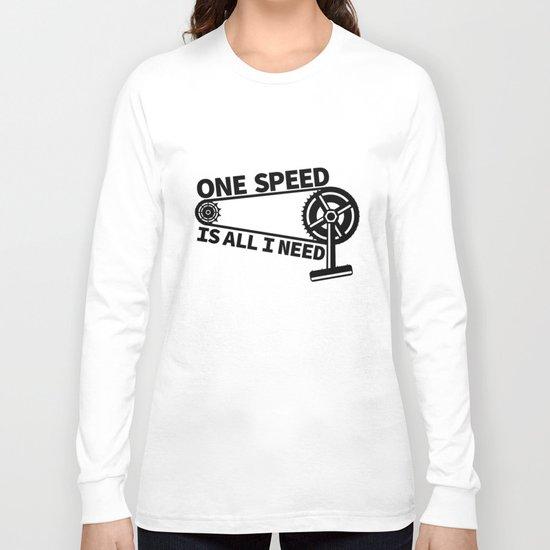 Single Speed Bike Long Sleeve T-shirt