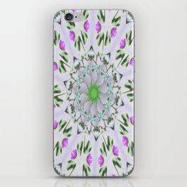 Purple Wildflower Kaleidoscope Art 7 iPhone Skin