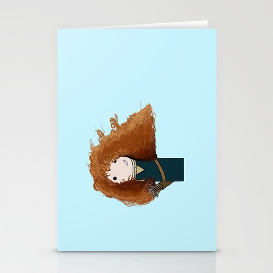 Merida Kokeshi Doll Stationery Cards