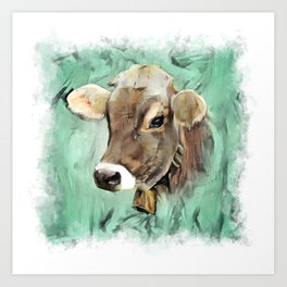 Pretty Cow Art Print