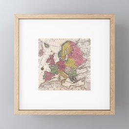 Old Map Europe Framed Mini Art Print