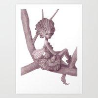 fairy Art Prints featuring Fairy by Sara Meseguer