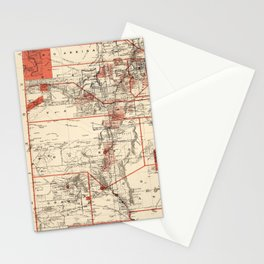 Vintage Map of New Mexico (1882) Stationery Cards