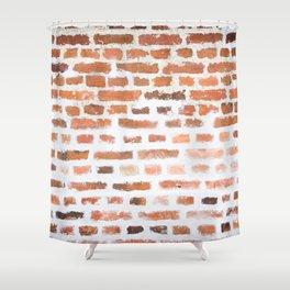 Brick wall Shower Curtain