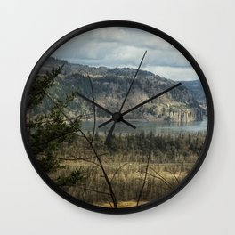 Columbia Gorge View from the Trail Wall Clock