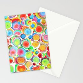 Sunshine on Your Spotty Mind (Alcohol Inks Series 07) Stationery Cards