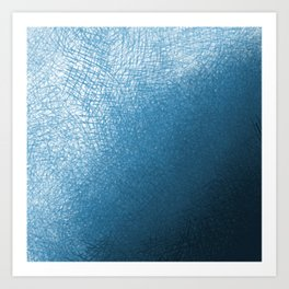 Abstract watercolor navy blue ombre brushstrokes Art Print