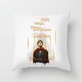 Merlin: Myth and Magic Throw Pillow