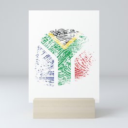 It's In My Dna South Africa Flag Vintage African Gift Mini Art Print