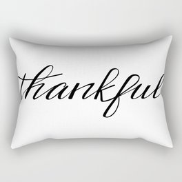 Thankful Calligraphy Rectangular Pillow