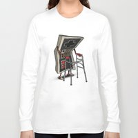 gamer Long Sleeve T-shirts featuring Old Gamer by Gintron