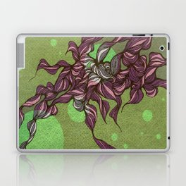 Waves #3 green Laptop & iPad Skin