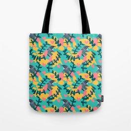 Blocky Tui Heart Print Tote Bag