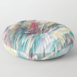 Rainbow Shards - Abstract Art by Fluid Nature Floor Pillow
