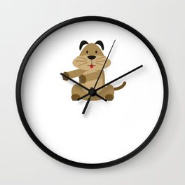 Floss Dance Move Dog Wall Clock