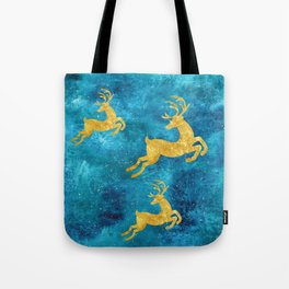 Golden Reindeer I Tote Bag