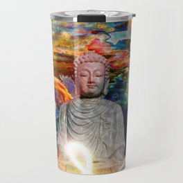 Budha in the Realm of Color Travel Mug