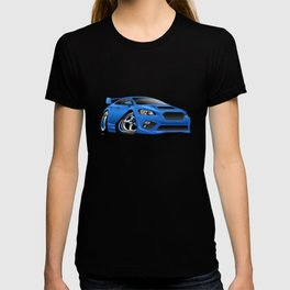 Import Sports Sedan Cartoon Illustration T-shirt