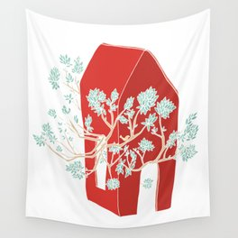 Break Free In Red Wall Tapestry