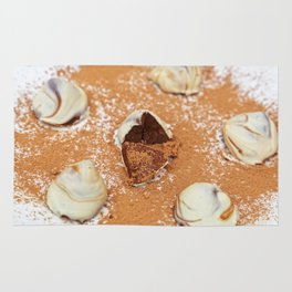 White Chocolate Truffels Rug