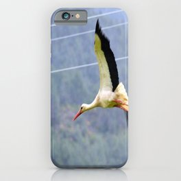 Stork In Flight iPhone Case