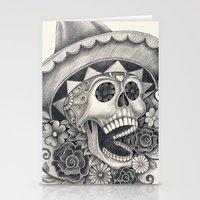 dia de los muertos Stationery Cards featuring Dia de Los Muertos by afzucatti