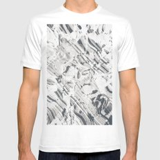 ZZZBLE White MEDIUM Mens Fitted Tee