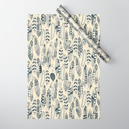 joyful feathers cream Wrapping Paper