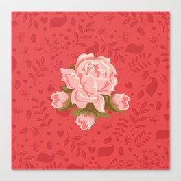 Floral Romantic Pattern Canvas Print