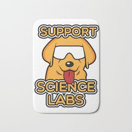 Funny Science Print Nerds Geeks Scientists Print Dog Gift Bath Mat