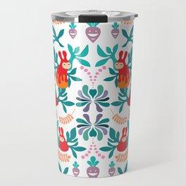 PippiRabbit in Succulents Garden Repeated Pattern Travel Mug