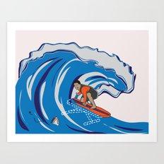 Pressing Waves Art Print