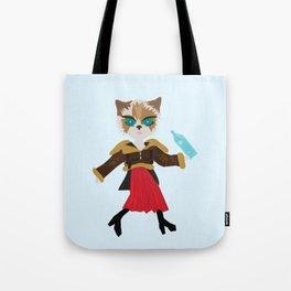 Water cat Tote Bag